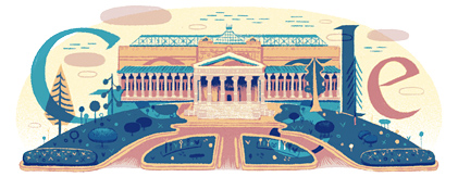 Google Logo: The Pushkin Museum of Fine Arts's 100th Anniversary