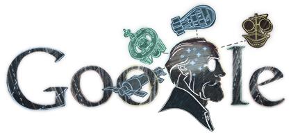 Google Logo: Constantin Tsiolkovsk's 155th birthday - Soviet rocket scientist
