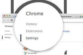 Настройки конфиденциальности Google Chrome