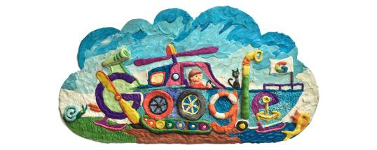 Дудл для Google: На транспорте будущего через всю страну