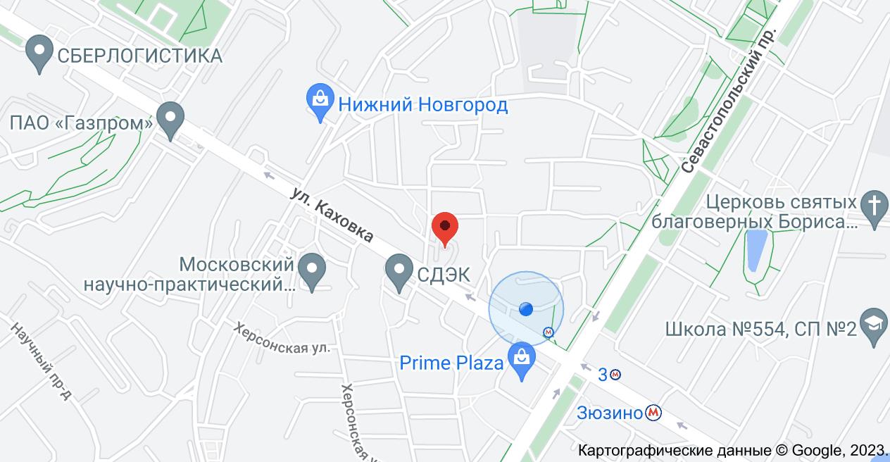 ул. Каховка, 20А, Москва, 117461: карта