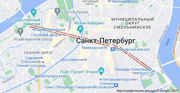 Невский пр., Санкт-Петербург: карта