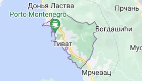 Тиват Черногория: карта