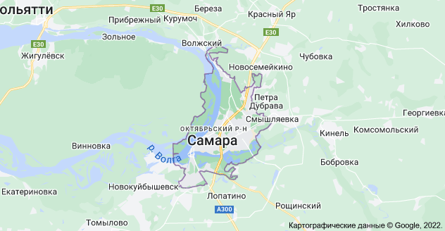 Самара, Самарская обл.: карта