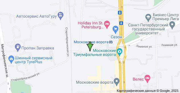 Ташкентская ул., 4, Санкт-Петербург, 196084: карта