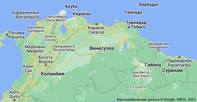 Венесуэла: карта