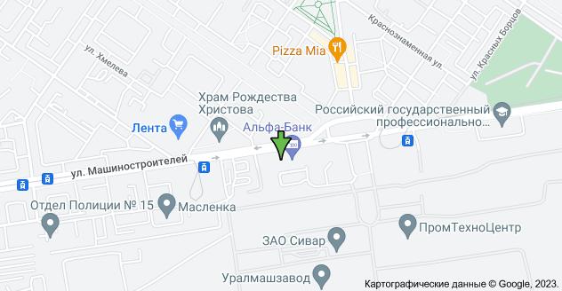 ул. Машиностроителей, 19, Екатеринбург, Свердловская обл., 620012: карта