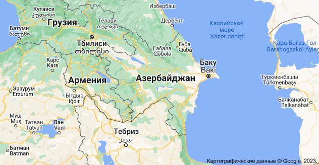 Азербайджан: карта